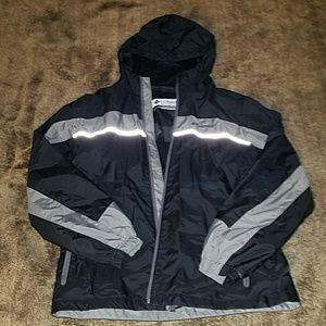 Columbia  Yout 14/16 rain jacket& reflective chest